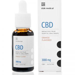 USA medical Oral Drops 3000mg CBD olej 30 ml