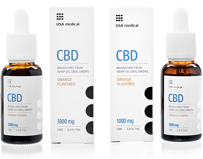 usa medical oral drops cbd olej 3000 a 1000mg