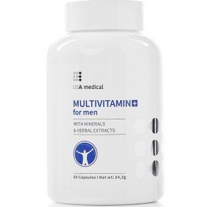 Výživový doplnok Multivitamin for Men obsahuje jedinečnú kombináciu vitamínov